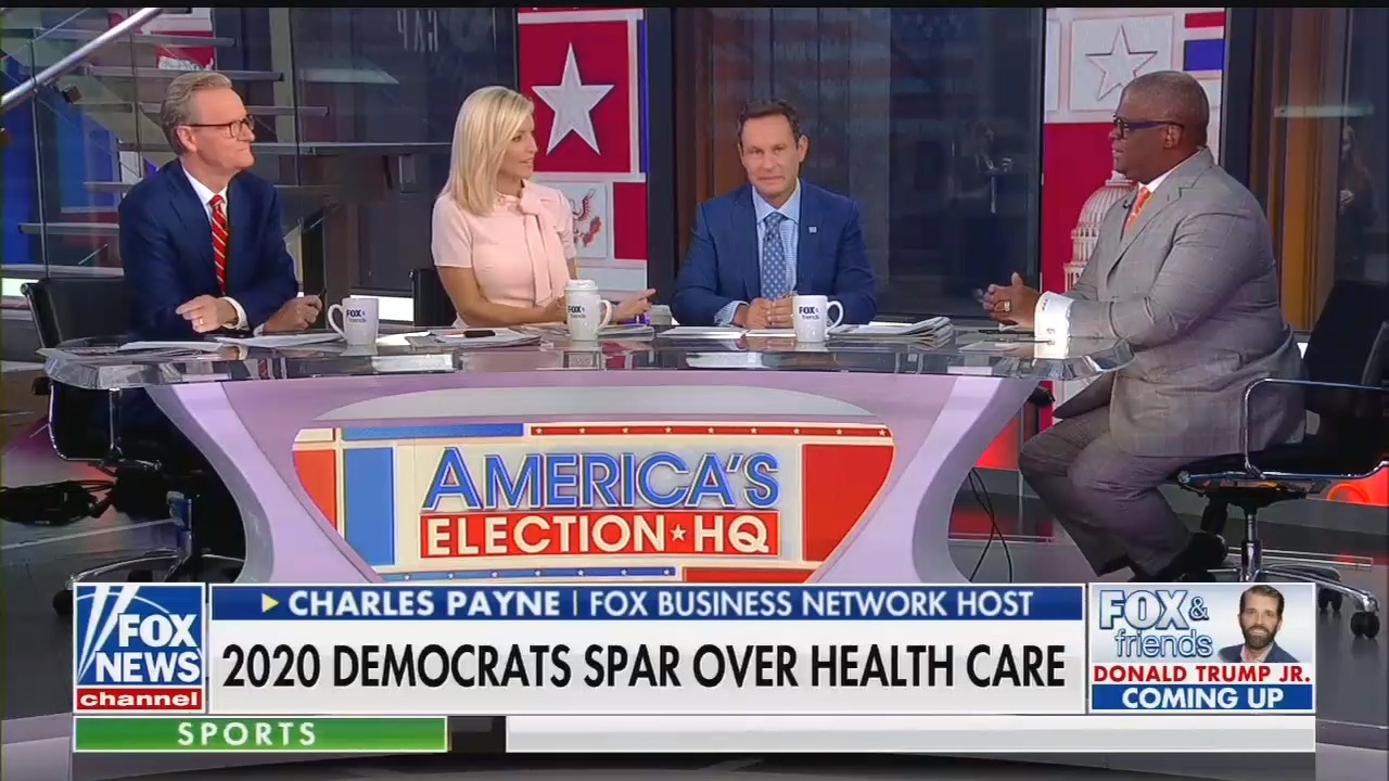 Fox's Charles Payne suggests universal health care will kill Americans' motivation to accomplish anything in life