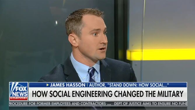 """Fox & Friends guest says """"social engineering"""" of the military began with """"mixed gender infantry"""""""