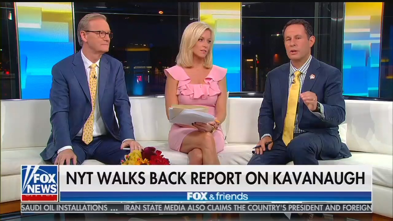 "Kilmeade says of Deborah Ramirez, who says Kavanaugh assaulted her: ""She's a valedictorian who ended up at Yale. Things could be worse."""