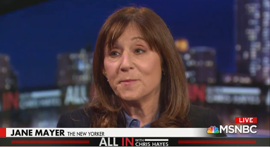 Watch Chris Hayes and New Yorkers Jane Mayer expose the media's failure in promoting Peter Schweizer and his conspiracies