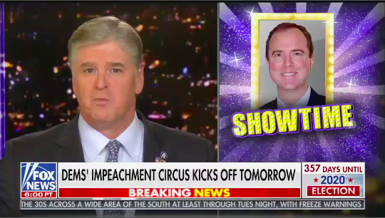 """Before impeachment hearings begin Sean Hannity tells viewers """"everything you're going to see in the next two weeks is rigged"""" - Media Matters for America"""