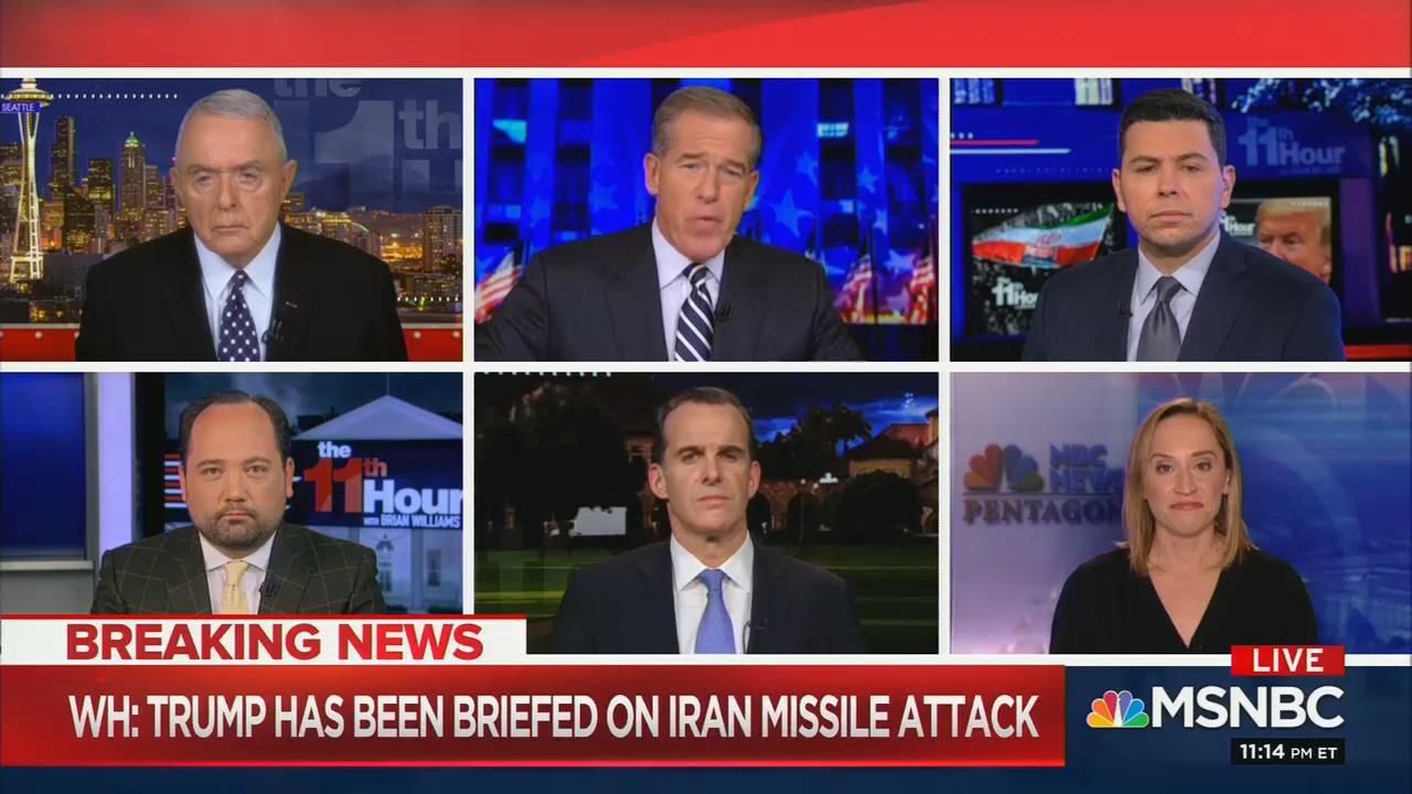 Here are all the people who have been on weekday cable news to talk about Iran