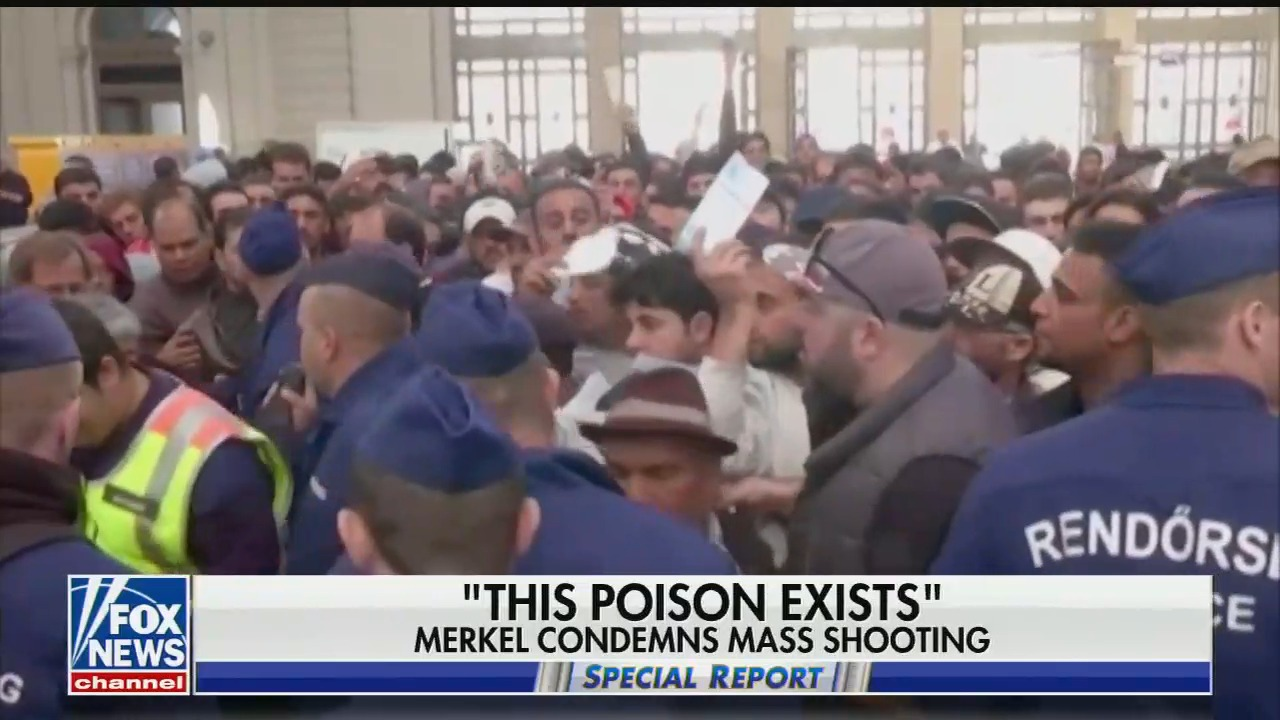 Fox's Special Report places blame for racist right-wing terror attack in Germany on immigrants and Angela Merkel's immigration policy