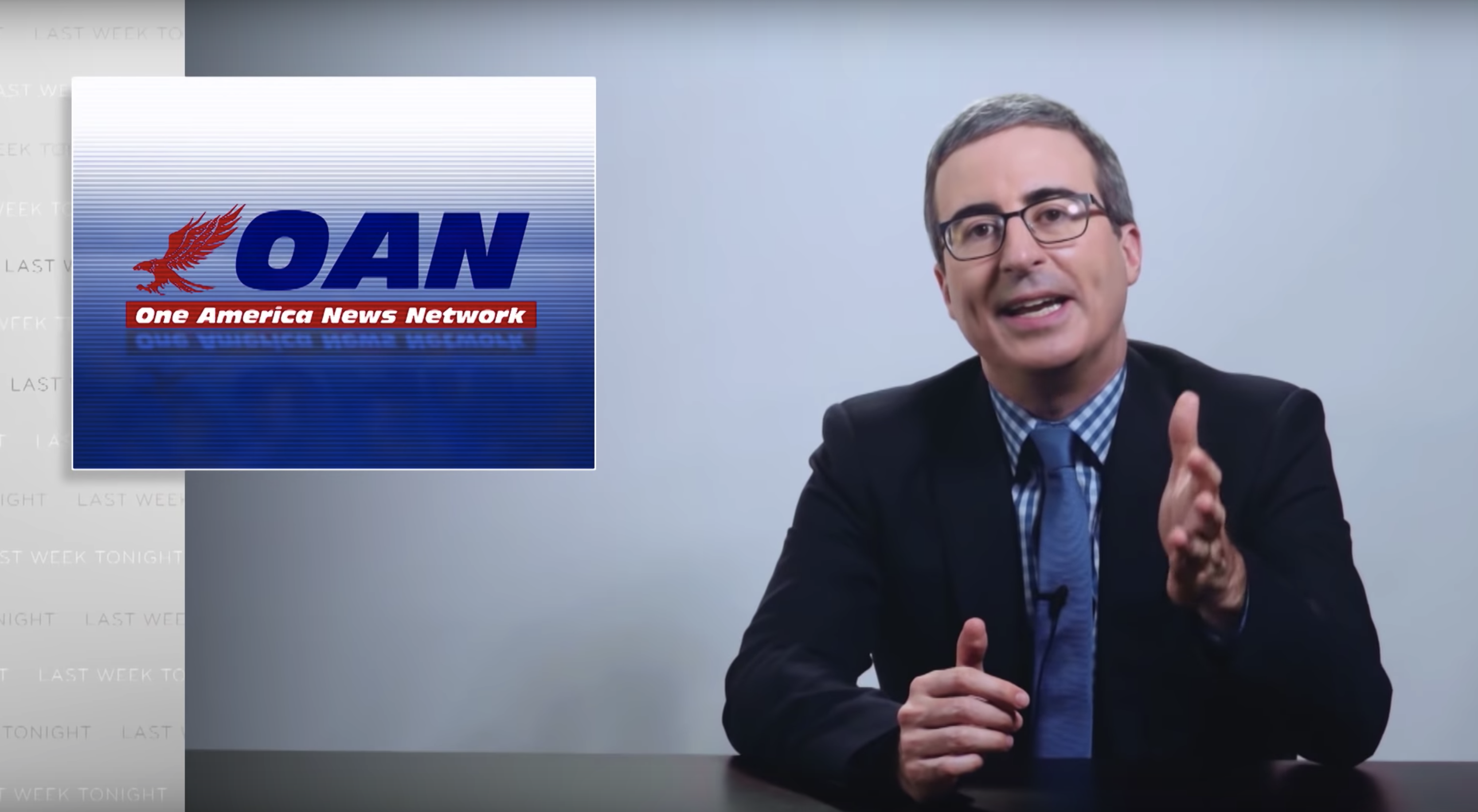 "John Oliver takes down Trump's ""love affair"" with OAN"