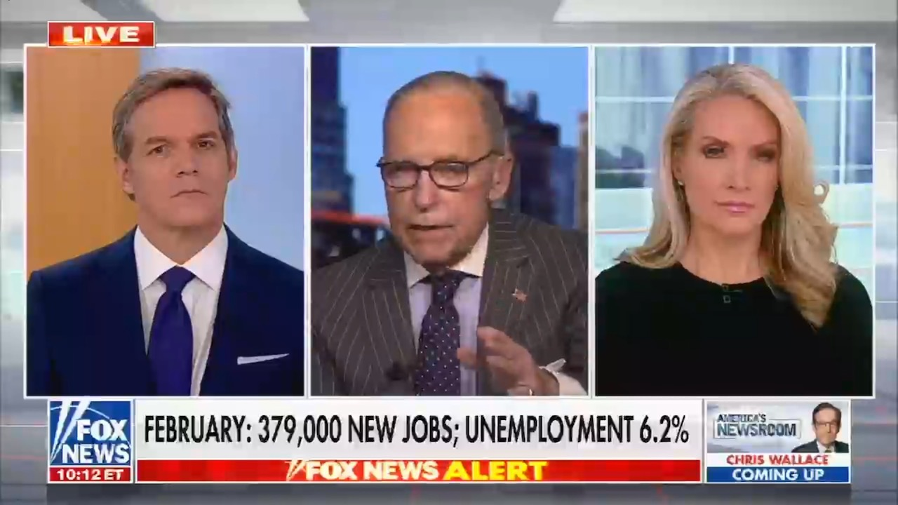 The economy is still down by 9.5 million jobs. Fox News says the latest jobs report means we don't need more pandemic relief.