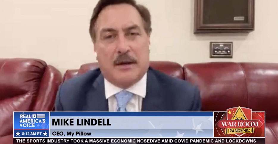 """My Pillow CEO Mike Lindell refers to the COVID-19 vaccine as the """"mark of the beast"""""""