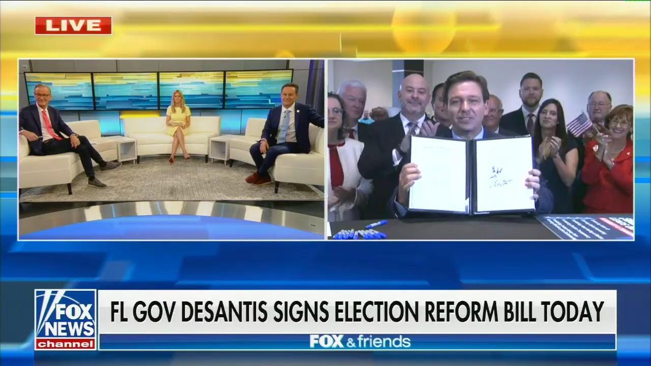"""Florida governor banned reporters from a bill signing to give Fox & Friends """"exclusive"""" coverage"""