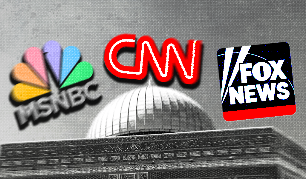 All three major cable news networks largely ignored a police raid at one of the world's oldest and most politically significant mosques
