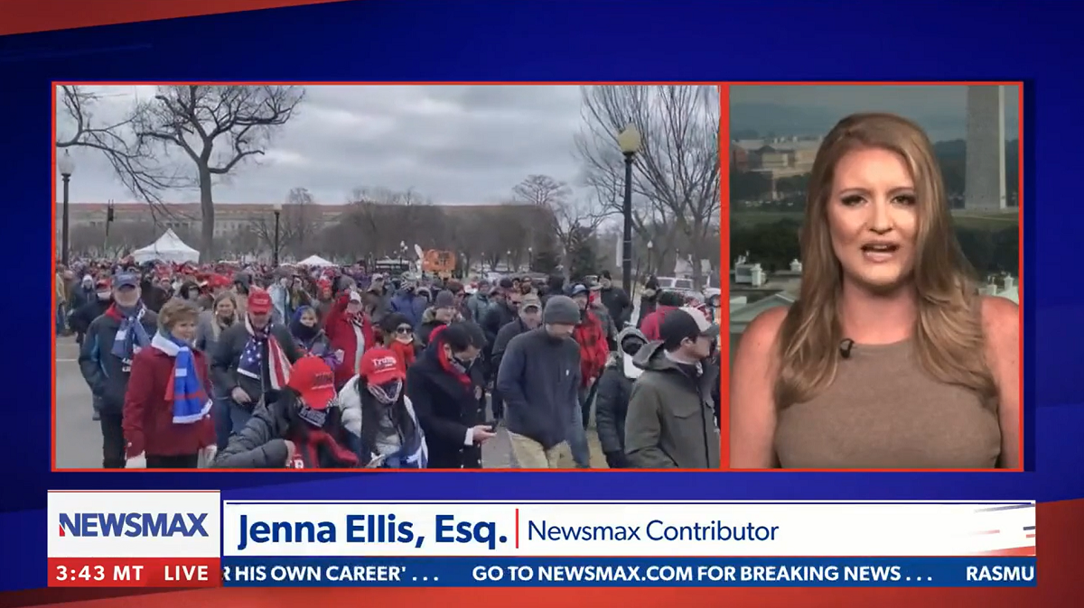 """Newsmax's Jenna Ellis says the deaths by suicide of police officers who responded to Capitol insurrection are """"really suspicious"""""""
