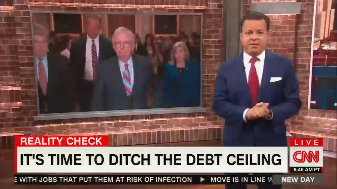 CNN's New Day actually gets the debt ceiling right — and highlights McConnell's dishonesty