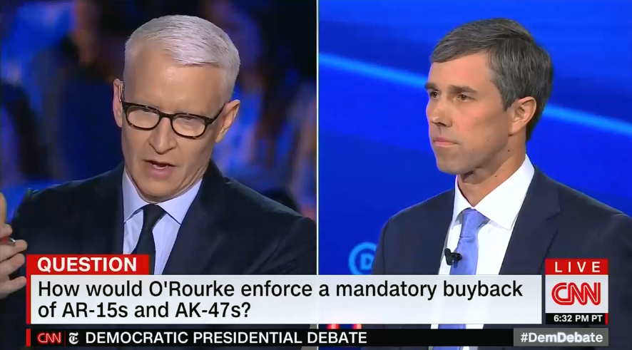 CNN and the NY Times' debate questions failed to touch on the reality of gun violence