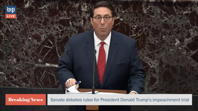 Trump impeachment lawyers Jay Sekulow and Pat Cipollone echoed Fox in impeachment trial opening statements