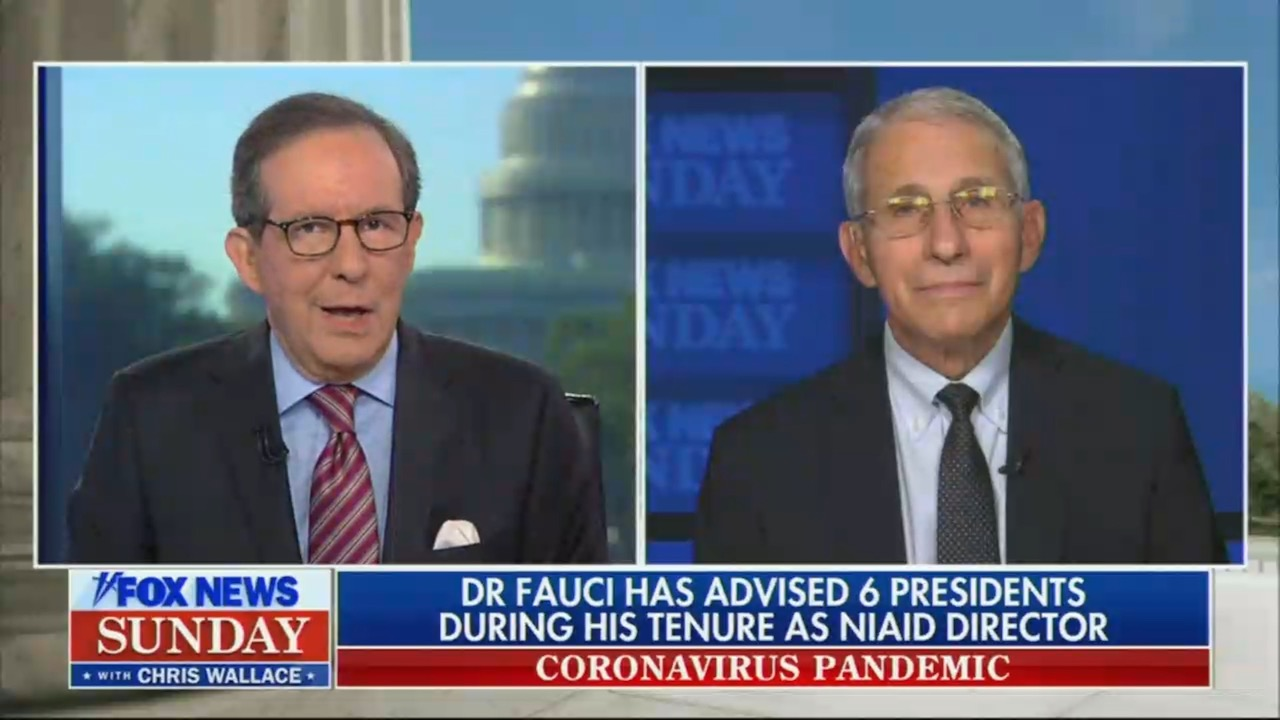 Chris Wallace obliviously asked Dr. Fauci about political attacks against him — which have come from Fox News