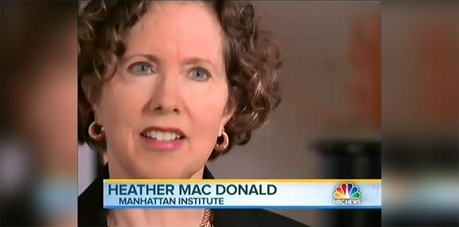 Mac Donald Heather Mac Donald Falsely