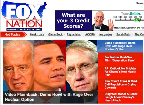 Fox Nation headline