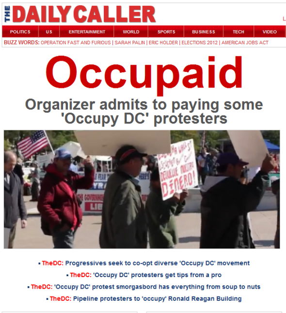 Daily Caller: Occupaid