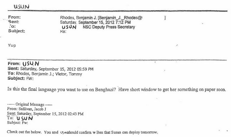 Emails between USUN and NSC
