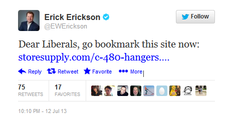 Erick Erickson\'s wire-hanger joke: What, you don\'t think illegal ...