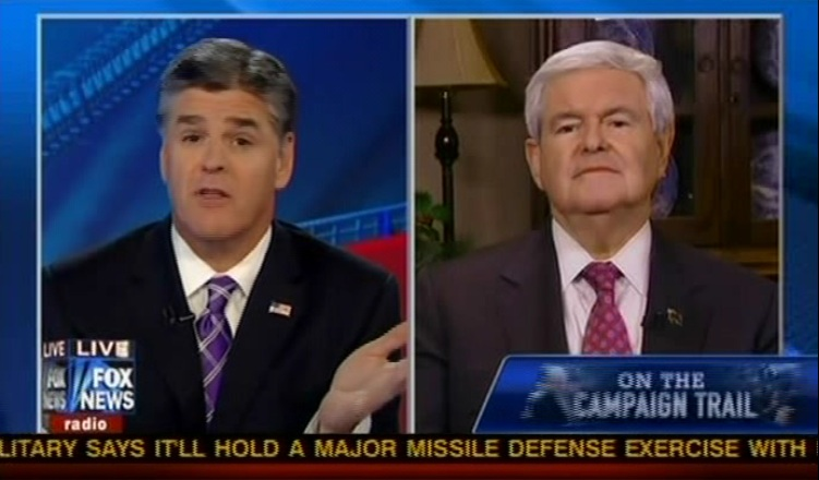 Fox's Newt Gingrich Pushes Rumor That Hillary Clinton Got Debate Questions In Advance