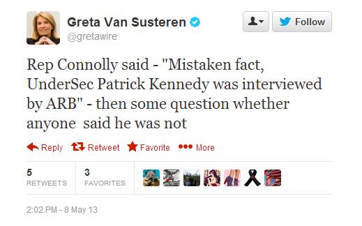 Greta Van Susteren tweet
