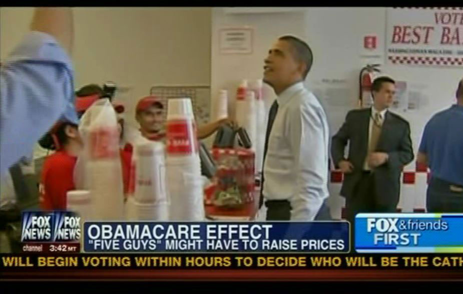 Fox News On Screen Image Obamacare Five Guys