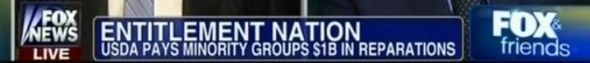 Fox Chyron: Entitlement Nation