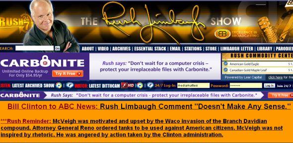 Limbaugh website