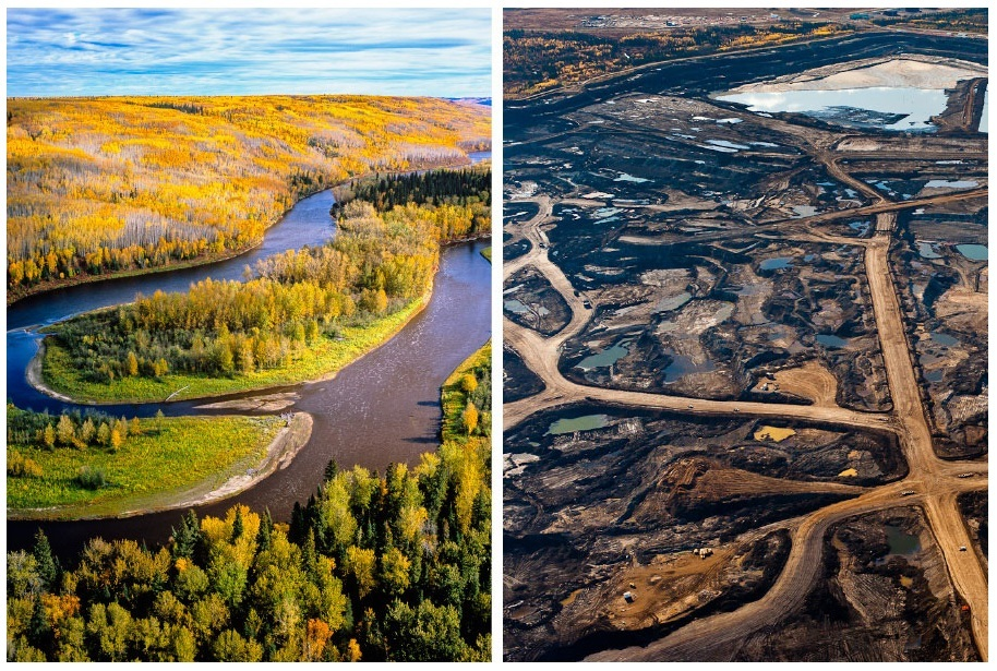 Canada's tar sands landscape from the air – in pictures