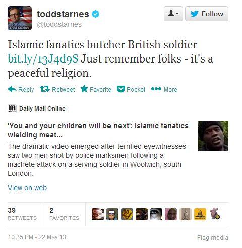 Todd Starnes Tweet