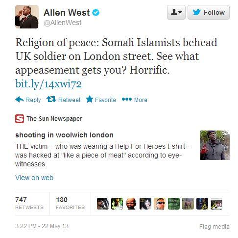 Allen West Tweet