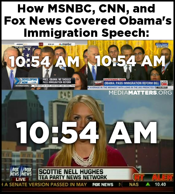 How MSNBC, CNN, and Fox News Covered Obama's Immigration Speech