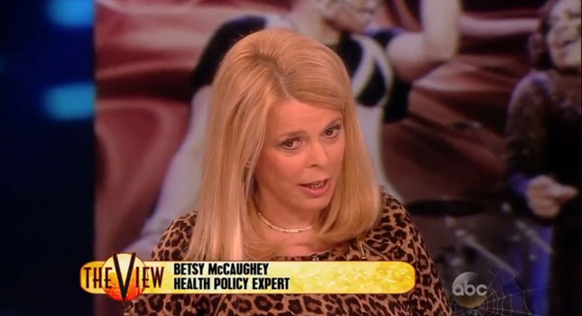 """Affordable Health Care >> The View Mainstreams Serial Misinformer Betsy McCaughey As A """"Health Care Policy Expert"""""""