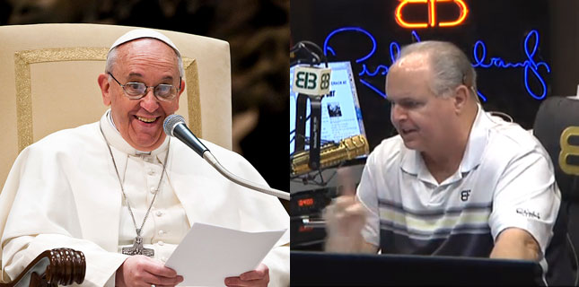 Pope Francis, Rush Limbaugh