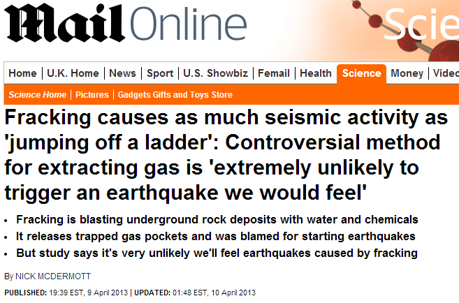 Mail Headline - Fracking