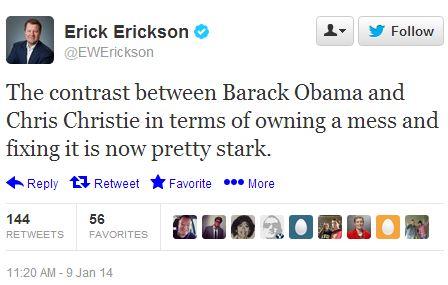 Erick Erickson tweet