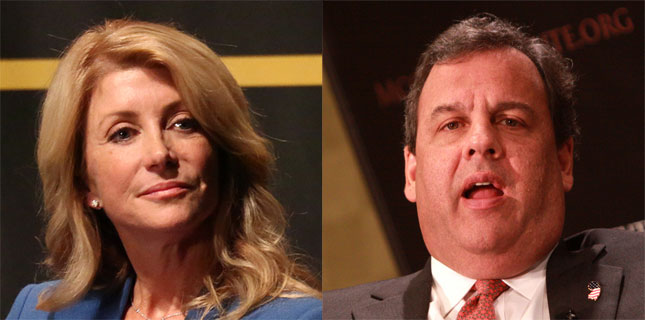 Wendy Davis and Chris Christie