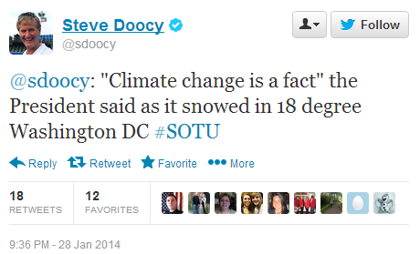 Doocy Tweet January 28