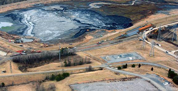 North Carolina coal ash spill via Waterkeeper Alliance, Flickr Creative Commons 2.0