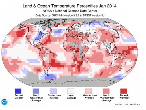 NOAA Land & Ocean Temperatures