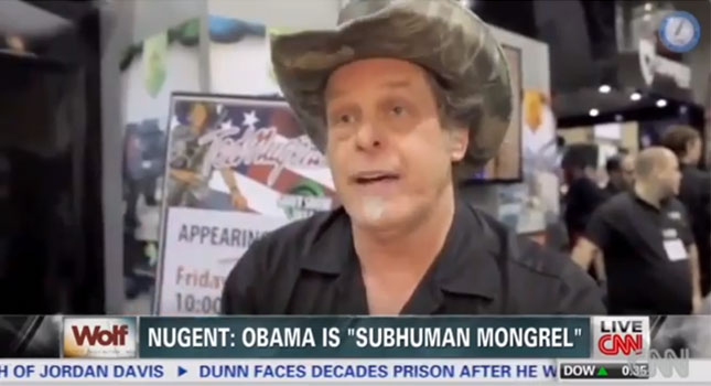 racist white people love Ted Nugent