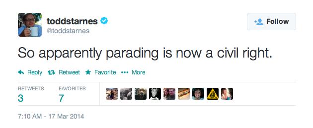 Todd Starnes Tweet: