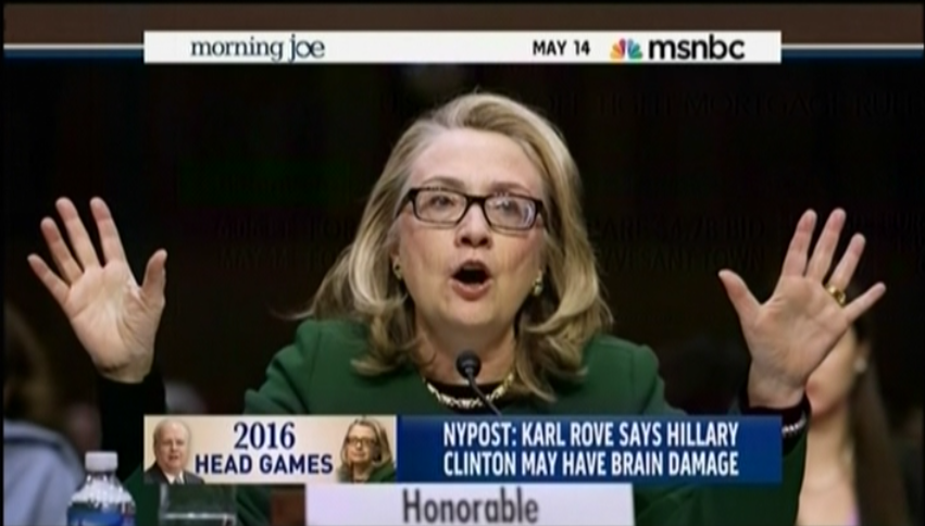 MSNBC on Hillary Clinton and Karl Rove