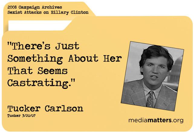 Media Matters Archive: Tucker Carlson