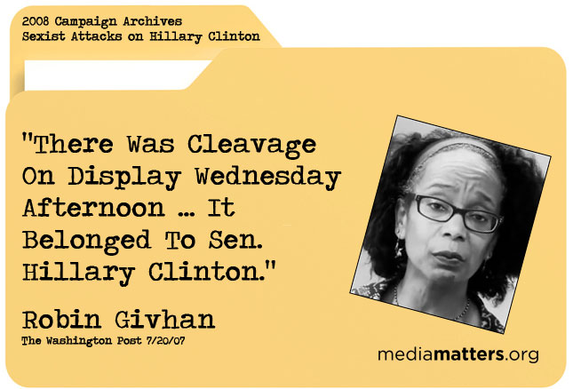 Media Matters Archive: Robin Givhan