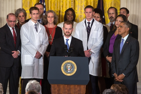 President Obama Joined By Dr. Kent Brantly And Others To Discuss Ebola Response