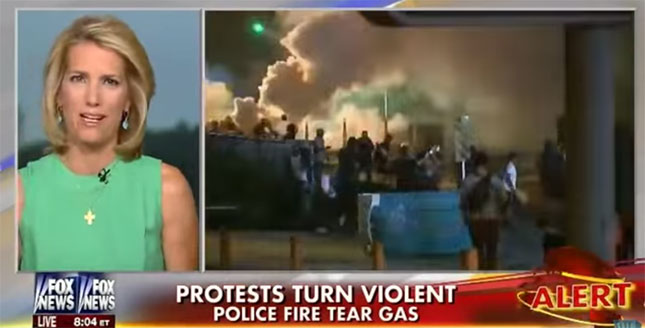 Laura Ingraham on Fox discussing Ferguson protests
