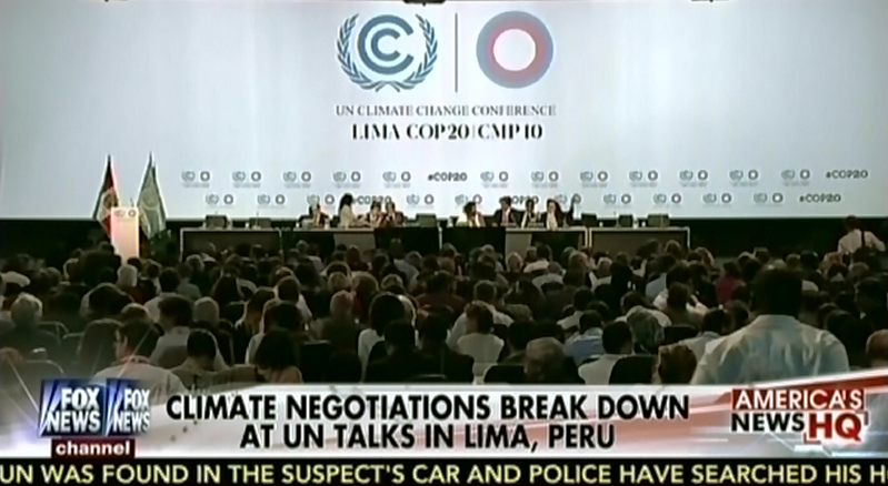 blog only covered climate talks when things