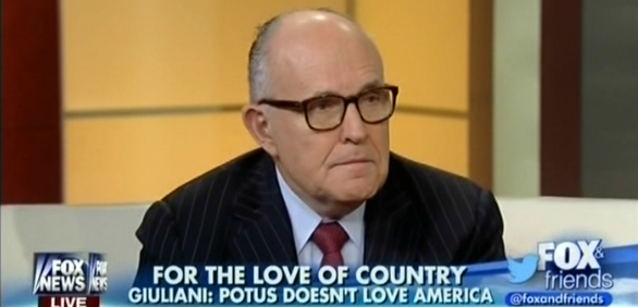 Giuliani Questions Obama's Love Of Country
