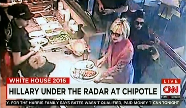 Hillary Clinton At Chiptole