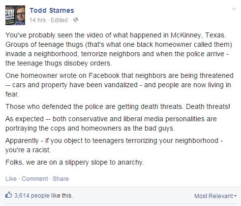 Todd Starnes: It's Not Racist
